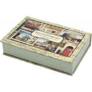 アンティーク風 ポストカード & ボックスセット プラハ ロンドン イタリア パリ|laurier