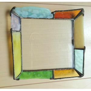 ステンドグラス ガラスプレート ジュエリートレイ グリーン |laurier