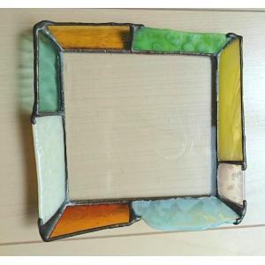 ステンドグラス ガラスプレート ジュエリートレイ グリーン |laurier|02
