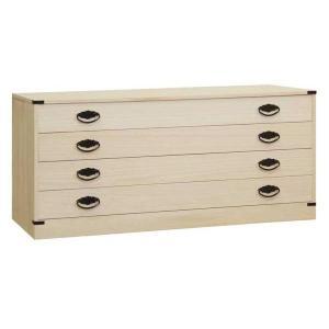 桐タンス 桐たんす 桐チェスト 着物 衣類 洋服 衣装 収納 国産 日本製 咲 4段|lavender-house