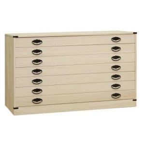 桐タンス 桐たんす 桐チェスト 着物 衣類 洋服 衣装 収納 国産 日本製 咲 7段|lavender-house