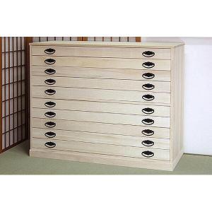 桐タンス 桐たんす 桐チェスト 着物 衣類 洋服 衣装 収納 国産 日本製 舞 10段|lavender-house