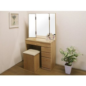 ドレッサー 三面鏡 鏡台 化粧台 椅子付き 北欧 おしゃれ 人気 アウトレット セール ルナ 2点セット ナチュラル