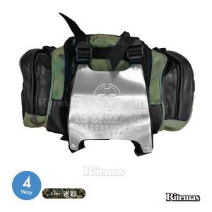 4WAY便利バック大容量 軽量 ウエストポーチ ウエストバッグ デイパック ナイロン アルミプレート 迷彩 バッグ かばん 軽量 便利 通学 通勤 旅|lavieofficial