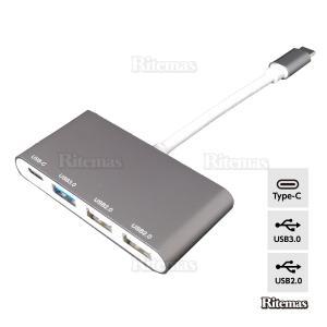 Type-C USBマルチポート アダプタ 薄型 ハブ 変換 4in1 3.0 2.0 変換アダプター 充電ポート 高速データ転送 マルチポート マル|lavieofficial