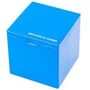 Dreams(ドリームズ) 灰皿 アッシュトレイキューブ 卓上 ハニカム 34本収納 ブルー MDL45088直径7cm lavieshop