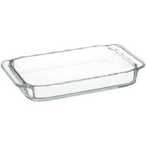 iwaki(イワキ) 耐熱ガラス オーブントースター皿 ベーシックシリーズ 240×145×35mm 700ml KBC3850|lavieshop