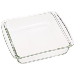 iwaki(イワキ) 耐熱ガラス ケーキ型 グラタン皿 角型 18×18cm KBC221|lavieshop