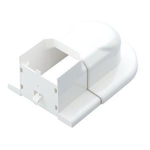 因幡電工 配管化粧カバー スライド式ウォールコーナー はりや壁ぎわなどの壁貫通部からの取り出し ホワイト MWS-75-L-W|lavieshop