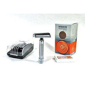 メルクールMERKUR(独)髭剃り(ひげそり)両刃ホルダー ツイストヘッド337C (替刃11枚付)プラケース入|lavieshop