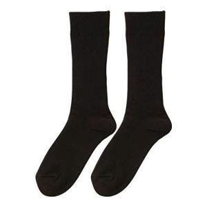 お得な2足セット ひだまり ダブルソックス紳士用 [24~26cm] (黒) lavieshop