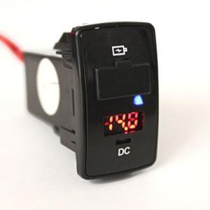 【 ホンダ車 専用 】 HONDA  純正風 充電用USBパネル(電圧計付き)  USB-CQ  USB 2.0規格準拠 充電ポート+電圧計メーター|lavieshop
