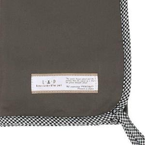 LIP3001 ケージ用マットカバーメディカル60サイズ (グレー×ギンガム) フェレット ベッド 消臭 抗菌 マット lavieshop