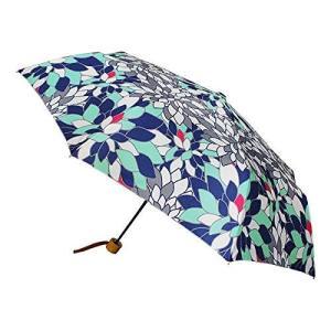 和柄テキスタイル三つ折り畳み傘-硝子菊 浅葱|lavieshop