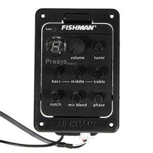 Fishmanアコースティック&クラシックギタープリアンプオンボードプリアンプとピックアップシステム 301 (黒)|lavieshop