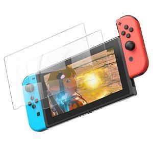 YOSH 2枚入り Nintendo Switch用 保護フィルム 気泡なし 簡単に貼れる 貼り直し可能 ガラスフィルム ブルーライト95%カット日本|lavieshop