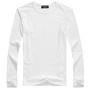 (POMAIKAI) 子供 長袖 Tシャツ ロンT 無地 キッズ 男の子 女の子 ロングtシャツ (白 L 110cm)|lavieshop
