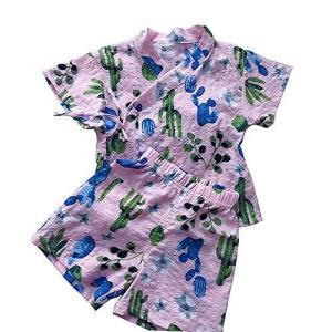 (ケヤカ) Keyaka 甚平 女の子 男の子 浴衣 子供 パジャマ キッズ 部屋着 ベビー 半袖 綿 花柄 和風 全5柄 上下セット じんべい 男女|lavieshop