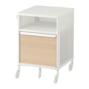 IKEA収納ユニット キャスター付BEKANTメッシュ ホワイト41x61 cm送料¥750!代引き...