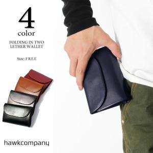 c8ba1dc99113 Hawk Company ホークカンパニー 7209 フラップ付き2つ折り財布