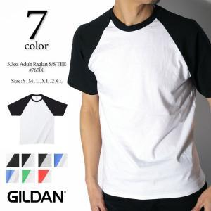 GILDAN ギルダン 5.3oz ジャパンフィット ラグラン半袖Tシャツ 76500