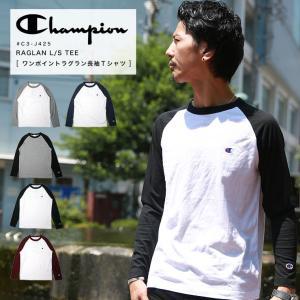 Champion チャンピオン ラグラン ロングスリーブ Tシャツ C3-J425