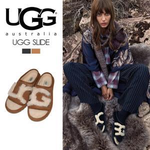 商品名:UGG AUSTRALIA アグ オーストラリア UGG SLIDE BLACK/NATUR...