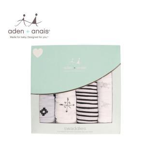 商品名:aden and anais エイデンアンドアネイ おくるみ 出産祝い 4枚セット 2061...