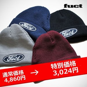 FUCT SSDD F OVAL WATCH CAP ニットキャップ|lay-z-boy