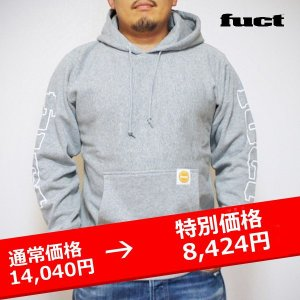 FUCT SSDD SLEEVE PRINT PULLOVER HOODIE スウェット パーカー グレー lay-z-boy