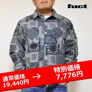 FUCT SSDD BANDANA FLANNEL SHIRT 黒 バンダナ シャツ|lay-z-boy