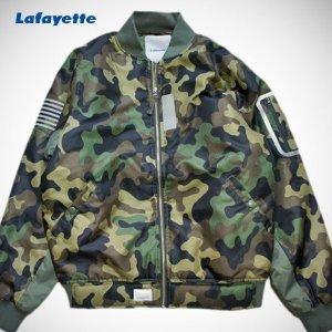 LAFAYETTE REFLECTIVE FLIGHT JACKET MA-1 CAMO ラファイエット フライト ジャケット カモ|lay-z-boy