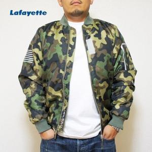 LAFAYETTE ジャケット REFLECTIVE FLIGHT JACKET MA-1 CAMO|lay-z-boy