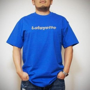 LAFAYETTE Lafayette CHECKER LOGO TEE ラファイエット チェッカーロゴ Tシャツ 青 ROYAL 【再入荷】|lay-z-boy