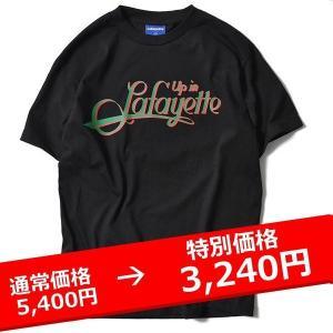 Lafayette UP IN Lafayette TEE 黒 ラファイエット Tシャツ|lay-z-boy