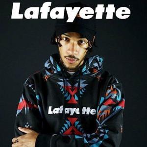 LAFAYETTE ラファイエット NATIVE PATTERN LOGO PULLOVER SWEATSHIRT スウェットパーカー|lay-z-boy