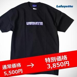 LAFAYETTE PURPLE LABEL LOGO TEE ラファイエット パープルレーベル ロゴTシャツ 黒 BLACK|lay-z-boy