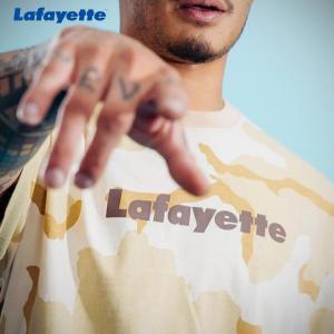 LAFAYETTE CAMO PATTERN Lafayette LOGO TEE ラファイエット カモパターン ロゴTシャツ DESERT CAMO|lay-z-boy