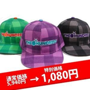 ★ザ・ハンドレッズ キャップ THE HUNDREDS  CHECK LOGO CAP lay-z-boy