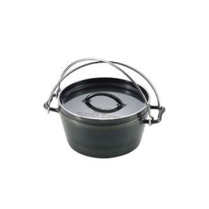 ●洗剤で洗えて、家庭でも使用できるダッチオーブン。黒皮鉄板製で錆び難い。【ユニフレーム】【UNIFL...