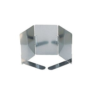 ●薄くて軽く、持ち運びやすい防風板。ハードステンレスによる適度な重さで安定し、シングルバーナーの炎を...