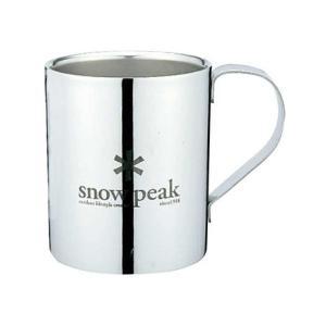 スノーピーク(snow peak) スノーピーク ロゴダブルマグ 330 MG-113R キャンプ バーベキューマグカップ (Men's、Lady's)|lbreath
