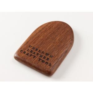 【UNBLOWN】ミニウッドブロック 約5.7×8.7cm【メール便対応】 [クラフト社]  レザークラフト工具 ウッドブロック lc-palette