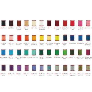 【六花(リゥファ)】ポリエステル糸 全48色 0.5mm×約50m[クラフト社]  レザークラフト工具 ロウ付糸(ポリエステル)|lc-palette
