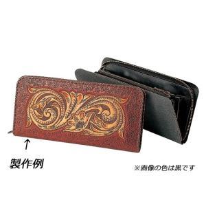 FWケース 黒/焦茶 10×20.5×2cm[クラフト社]  レザークラフト半製品 中パーツ|lc-palette