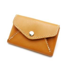 【型紙】ポケット付きカードケース 約7.5×11.5×1.5cm【メール便対応】 [ぱれっと]  レザークラフト型紙 図案 lc-palette