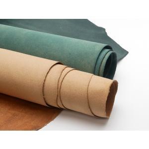 牛床(エルバマット)極薄 全15色 約90デシ(価格固定) 0.6mm前後 シングルベンズ[ぱれっと]  レザークラフト半裁 1枚革|lc-palette