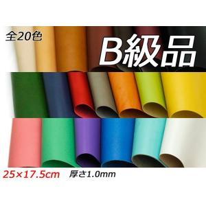 【B級切り革】ドエリア 全20色 25×17.5cm 1.0mm【メール便対応】 [ぱれっと]  レザークラフト切り革(カットレザー) lc-palette