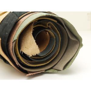 【大判床革パック】ミックス牛床 アソート 合計200デシ以上 0.8〜1.5mm[ぱれっと]  レザークラフト切り革(カットレザー) 切り革(床革)