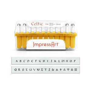 【ImpressArt】アルファベット刻印 Celtic 約3mm 33本入【送料無料】 [ぱれっと]  レザークラフト刻印 アルファベット刻印|lc-palette